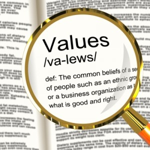 How do values influence strategic decision making?